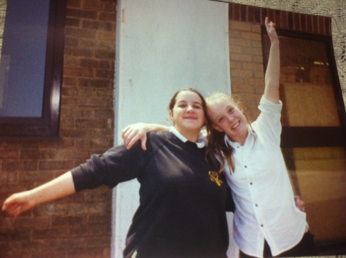 Me and Yvonne in the final year of high school